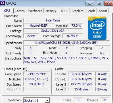 Original Intel Xeon E5-2628LV3 QS Version 2.00GHZ 10-Core 25M E5 2628LV3 E5 V3 LGA2011-3 75W free shipping E5-2628L V3