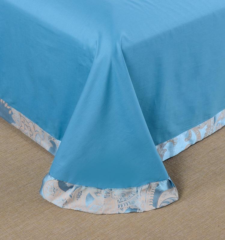 4 Uds de seda satén de algodón de lujo conjunto de ropa de cama de jacquard 22 estilos funda nórdica hoja de cama fundas de almohada reina rey tamaño de ropa de cama - 5