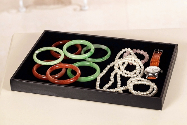 Black Flat Jewelry Display Tray Jewelry Blank Showing Tray Jewelry