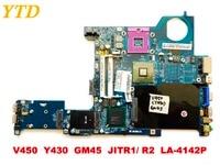 Original for lenovo V450 Y430 laptop motherboard V450 Y430 GM45 JITR1 R2 LA 4142P tested good free shipping