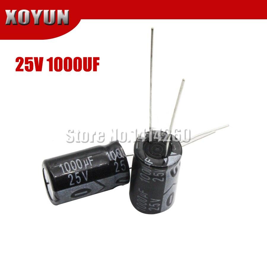 10PCS Higt Quality 25V1000UF 10*17mm 1000UF 25V 17*10 Electrolytic Capacitor