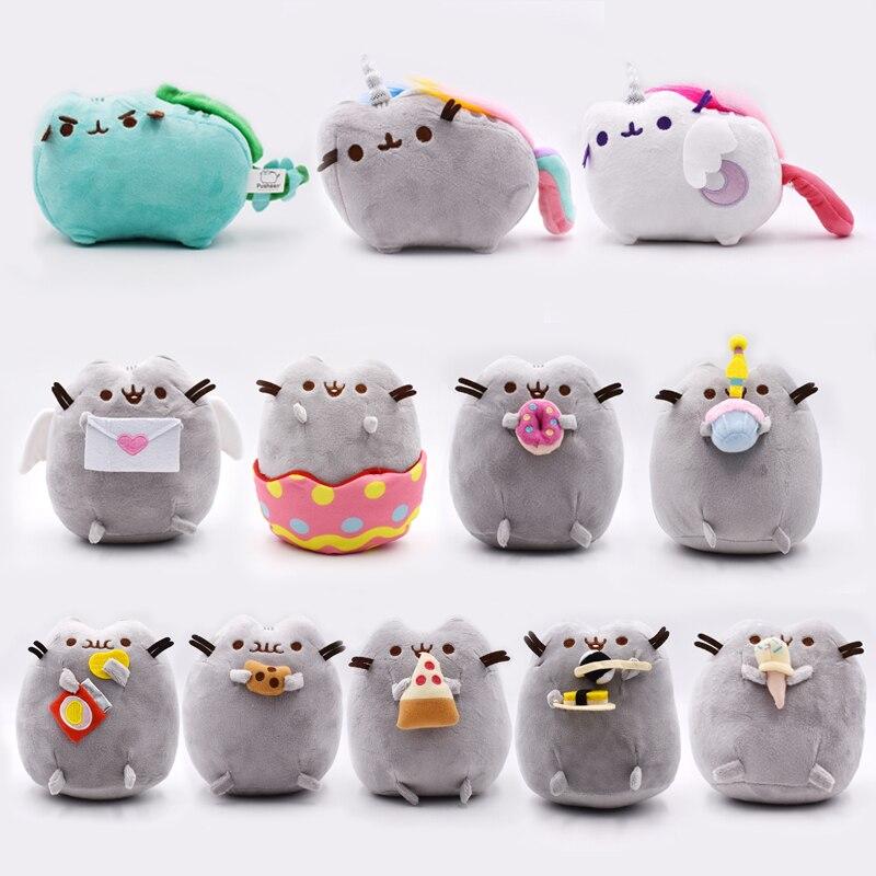 12 arten Katze 15-23 cm Kawaii Cookie Eis Sushi Doughn Umschlag Katze Plüsch Spielzeug Weiche Angefüllte Puppen Geschenk für Kinder