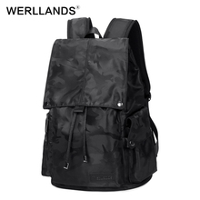 Werllands Модные мужские Камуфляж ежедневно рюкзаки для ноутбука большой Ёмкость сумка для ноутбука карман с клапаном подросток рюкзак дорожная сумка