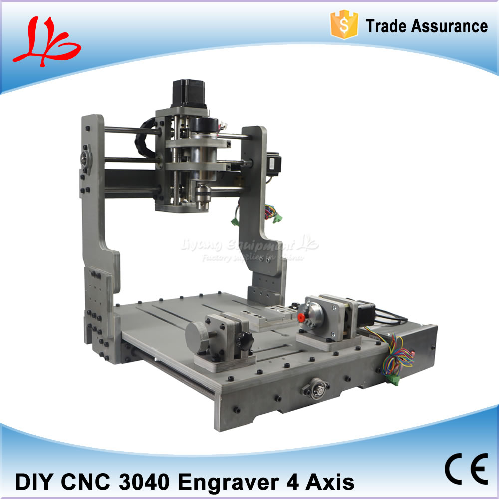 4 Axis CNC Wood Router Engraver CNC 3040 PCB Milling Machine Via Mach3 Control With 300W Spindle For Wood Cutting
