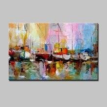 Arthyx Картины Ручная роспись маслом на холсте современное искусство абстрактные настенные картины для гостиной украшение дома без рамки