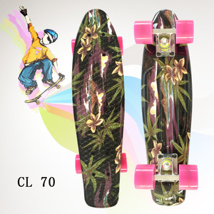 Image 4 - mini Cruiser omplete Skateboard Four wheel Skate board adult&children small skateboarding peny Board banana Long Board