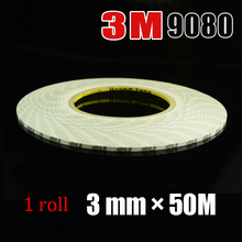 1roll*3mm*50m 3M9080 Two Sides Adhesive Tape for Phone, Tablet, LED Strip, LCD, Display, Frame Assemble Bond