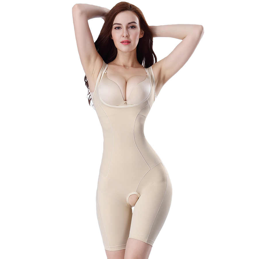 a849327efd Postpartum abdomen short-sleeve drawing seamless one piece shaper body  shaping underwear slimming clothes shapewear beauty care