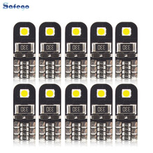 Safego 10pcs New High Bright Canbus T10 W5w 2smd 3030  Led Width Lamp Reading Indoor No Error Clearance Bulb 12V