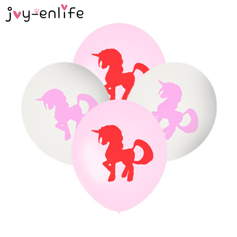 JOY-ENLIFE 10pcs/lot 12inch Lovely Unicorn Latex Balloon Birthday Wedding Party Decor Baby Shower Kids Christmas Party Supplies