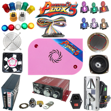 Arcade parts Bundles kit With Joystick Pushbutton Microswitch Player button 1300 in 1 Game PCB to Build Up Arcade Machine