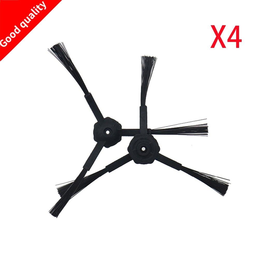 4pcs (2x Right+2x Left) Side Brushes For Panda X500 ECOVACS Robot X500 X580 CR120 Dibea X580 Vacuum Cleaner Accessories Parts