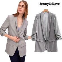Jenny   Dave blazers mujeres Inglaterra estilo casual chaqueta urbana Lino  entallado casual jackaet mujeres tops 70b4d85b0a71c