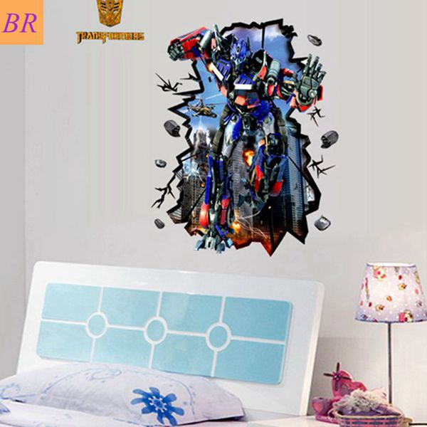 Free Shipping Return Of Convoy Movie 3D Wall Decals Cool Transformers For  Boys Bedromm Living Room