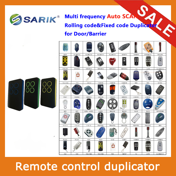 Multi Frequency 280 868mhz Rolling Code Universal Remote Control for Gate