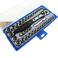 38 In 1 Torque Wrench Socket Set 3/8 inch/Metric Ratchet Driver Socket Wrench Tool Set Kit Trox For Car Repair Hand Tool Kit