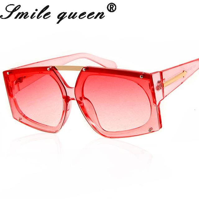 7f40fd71d075 Oversized Arrow Sunglasses Women Brand Designer Square Clear Sunglasses  UV400 Mirror Ladies Eyeglasses Transparent Glasses Male