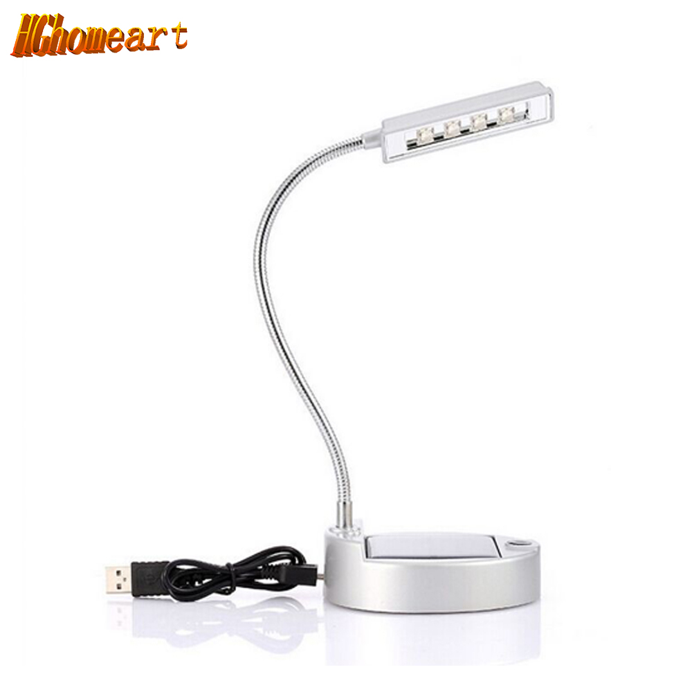 Solar Portable Flexible power bank table lamp usb led light lamp 110V 220V reading lamp led