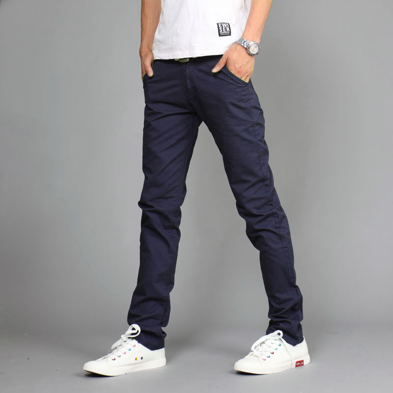 2019 lente mode casual broek heren, solide buiten trein broek, Mid taille katoen rechte broek heren khaki joggers maat 28-36