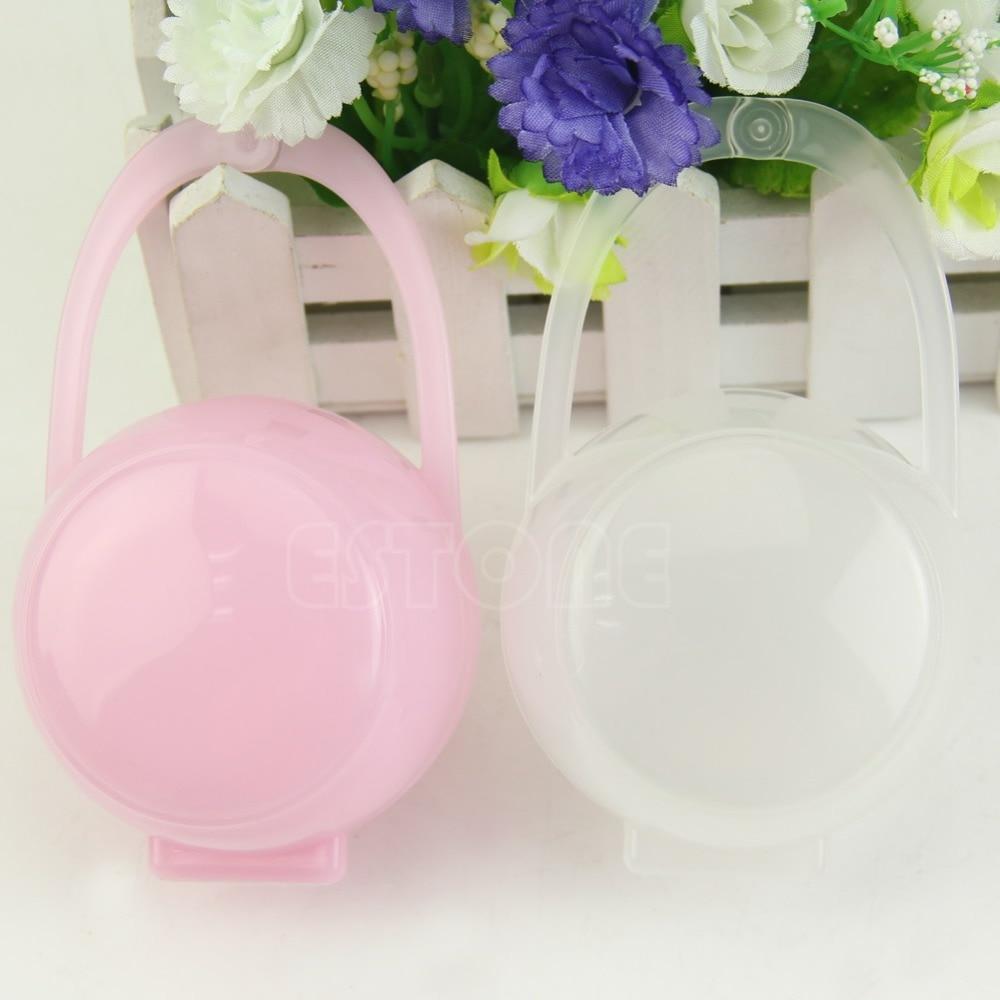 Portable Unisex Baby Boy Girl Infant Pacifier Nipple Cradle Case Holder Box Chupeta Pacifier Clips