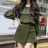 Dabuwawa Army green New Fashion Women Low Waist Shorts Casual Shorts Skirts Women Shorts #D17DSP009