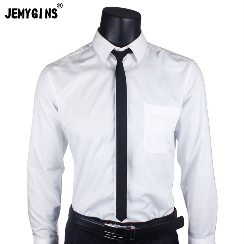 JEMYGINS Men's Tie 100% Silk Pure Black Tie 5cm Skinny Slim Tie High Quality Classic Business Casual Party Tie Wedding