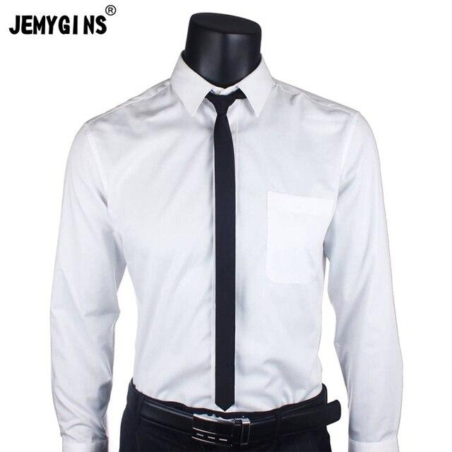 Jemygins Original Necktie 2 Inch Plain Black Tie For Suit