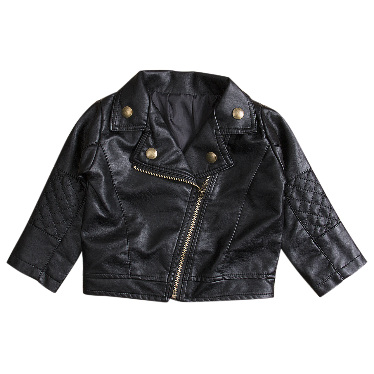 Kids Faux Leather Jacket Boys Girls Trendy Coat Toddler Fashion Motor Jacket