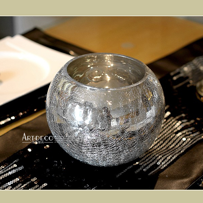 Carolingian Spherical Mirror Glass Vase Crack Size Number