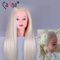 22 Mannequin Head Hair 90% Real Hair Maniqui Hairdressing Doll Heads Professional Styling Mannequin Head Wig Head