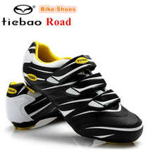 TIEBAO Cycling Shoes Road Bike Men zapatillas deportivas hombre Athletic Shoes Breathable Racing Bicycle Training Sports Shoes