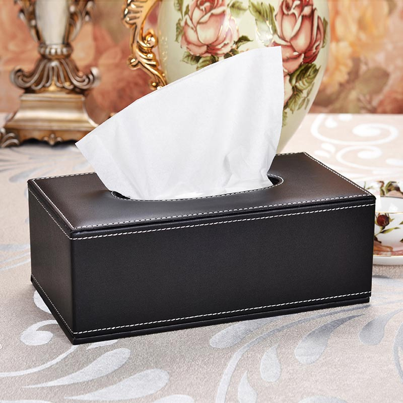 Living Room Cases leather tissue box napkin holder home office car living room cases