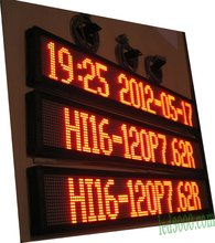 цена на two lines red color led moving text display,led panel,led sign,indoor led display board,RS232(HI16-120P7.62R)free shipping