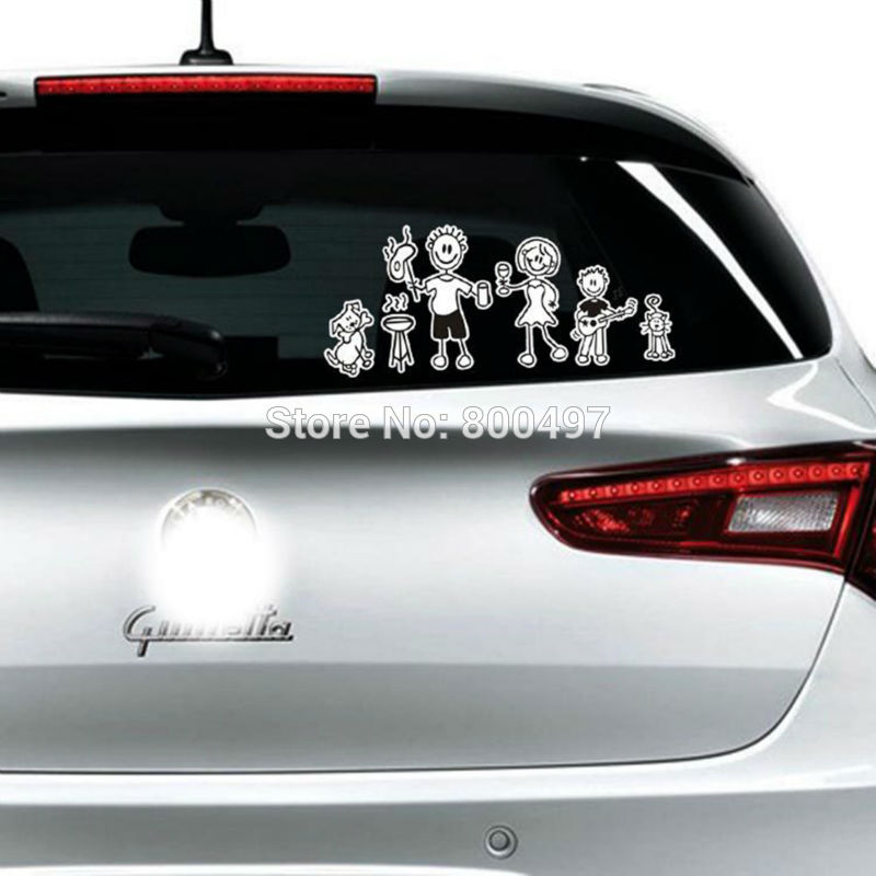 Family Members Reflective Car-covers We are family Car Sticker and Decals for Toyota Chevrolet VW Tesla Honda Hyundai Ford Lada
