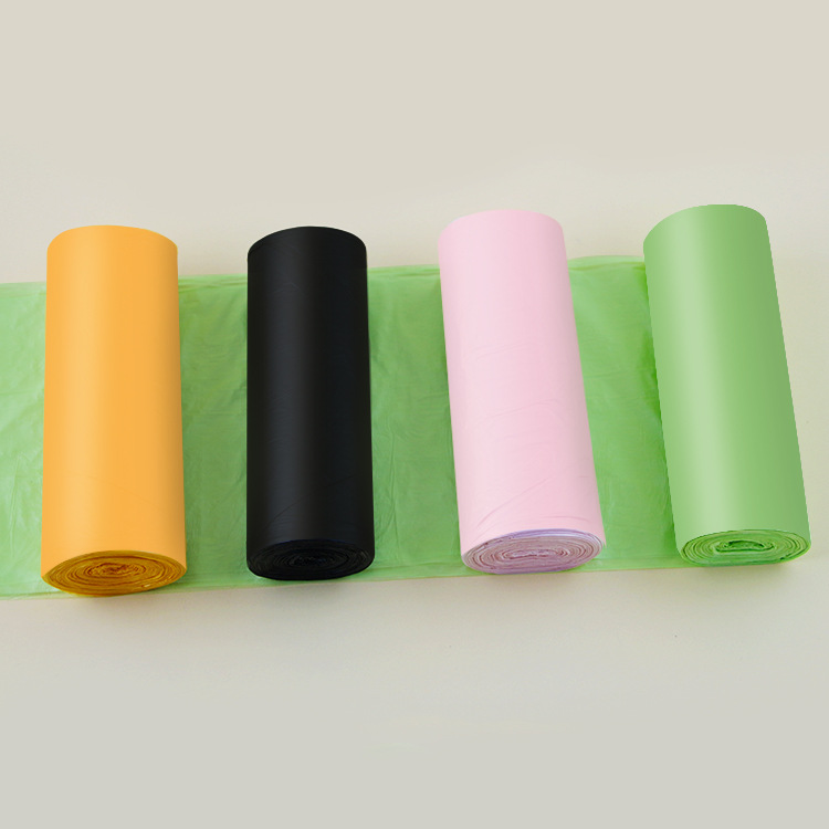 60pcs/pack(3 Roll) 50x60cm Big Size Flat Top Type Disposable Trash Bags Household Starch Degradable Garbage Bags