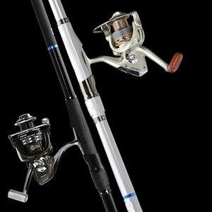 Image 4 - יפן מיובאת רוק חכת דיג סט ארוך סעיף גבוה פחמן קל במיוחד סופר קשה דגי ים מוט סט סיבי פחמן Olta Pesca