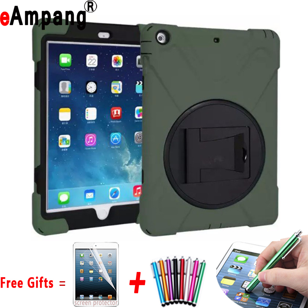 For iPad mini 1 mini 2 mini 3 Case Silicone 360 Rotating Stand+Leather Belt Clip Holster Defender Armor Cover For iPad mini case for iphone se 5s 5 high impact defender case w belt clip holster green dark grey
