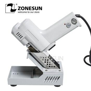 ZONESUN 110 V/220 V elektryczny próżniowe lutowane rozlutownica pompa Sucker rdzeń grzewczy na ssania cyny S-993A latarka rdzenia żelaza rdzeń 90 W