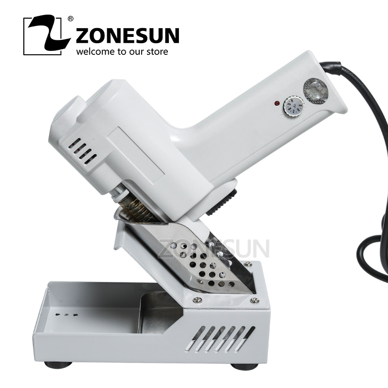 ZONESUN 110V /220V Electric Vacuum Desoldering Pump Solder Sucker Gun Heating Core Suction Tin S-993A Torch Core Iron Core 90W