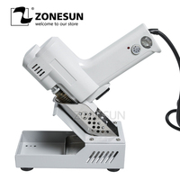 ZONESUN 110V /220V Electric Vacuum Desoldering Pump Solder Sucker Gun heating core suction tin S 993A torch core iron core 90W