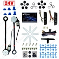 Universal 24V Car/Truck 2-Doors Electric Power Window Kits 3pcs/Set Moon Switches and Harness  #CA4421