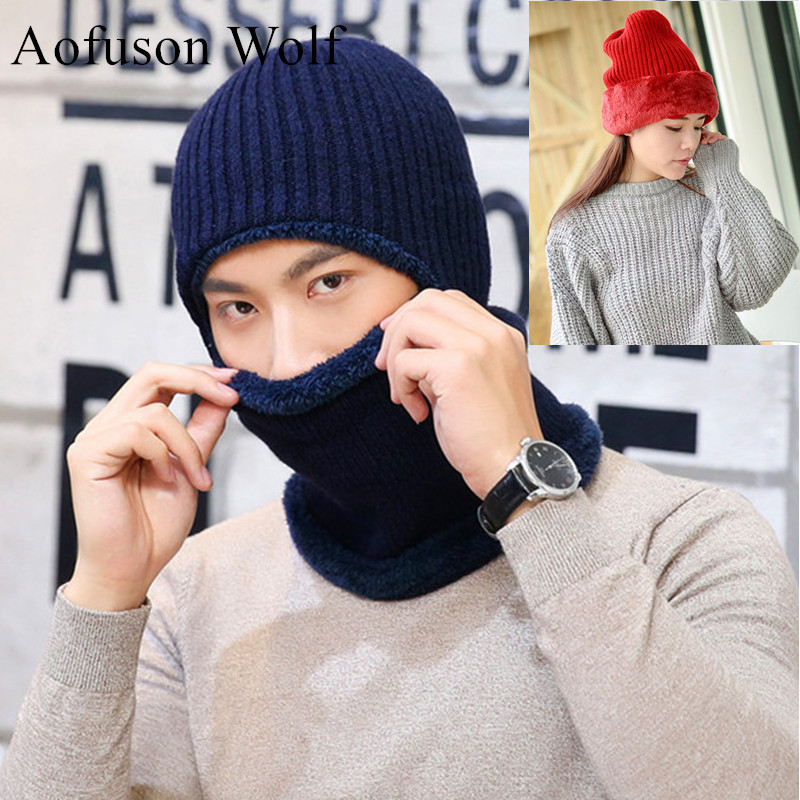 Full Face Mask Ski Cap Winter Snow Knitted Thicken Hats Motorcycle Scarf Head Beanie Cycling Hiking Snowboard Mask Women Men