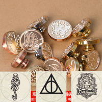 Color Hogwarts Gryffindor Stamp Head Coated DIY Ancient Seal Retro Stamp Personalized Stamp Wax Seal Stainless
