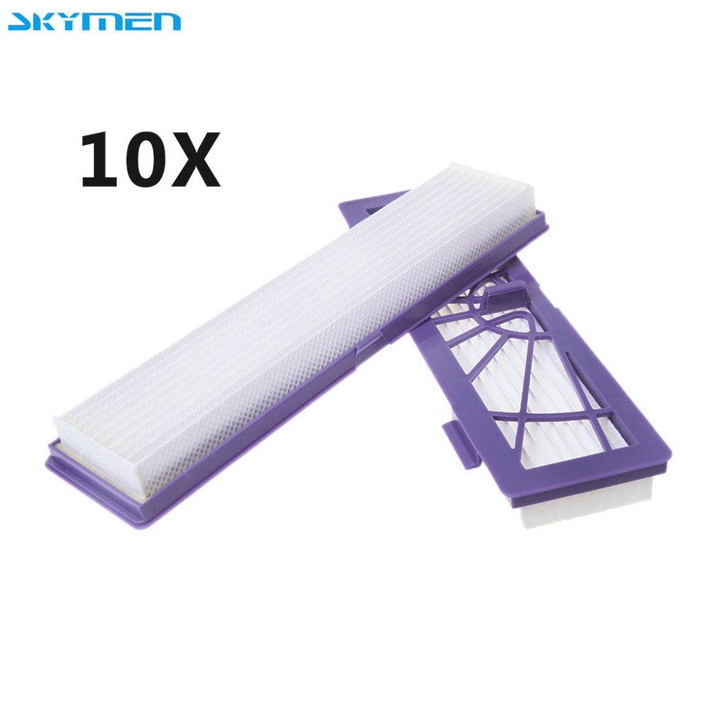 SKYMEN 10X HEPA Filters 20x5.5cm for Neato Botvac D7 D80 D85 D3 D75 D5 70e 75 80 D3 D5 Vacuum Cleaner 3 pcs lot hepa filters replacement for neato botvac 70e 75 80 85 neato botvac d75 d80 d85 d3 d5 robotic vacuum cleaner parts