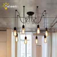 TSLEEN Free Shipping E27 LED Retro Edison Bulb Pendant Lights DIY Ceiling Hanging Vintage Loft Nordic