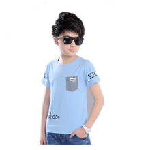 AJLONGER Boys T-shirts Kids Print T Shirt For Boys Children Summer Short Sleeve T-shirt Cotton Tops Clothing все цены