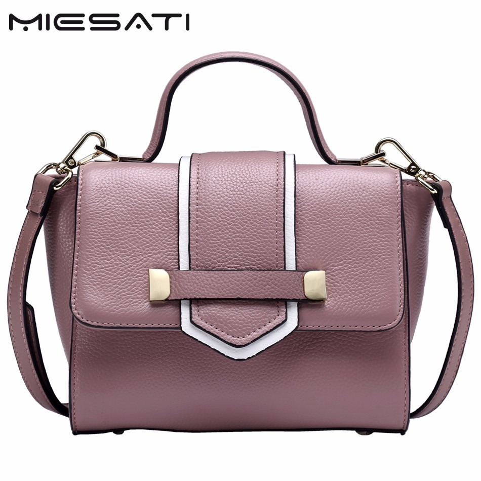 MIESATI Summer Fashion Women Leather Handbags Quality 7 colors Elegant Female Tote Bags Red/Black Ladies Shoulder Bag 2017 Brand micocah fashion women shoulder bag 2 colors quality brand handbags for female pu leather gh50007