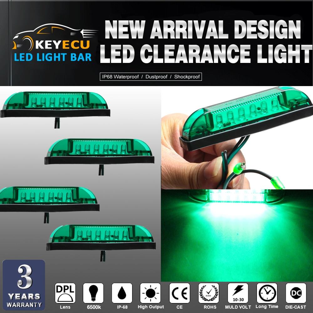 KEYECU 4PCS GREEN LED Strip Light Maker Light 4 Great Utility Light Indoor & Outdoor Lighting universal use on any application