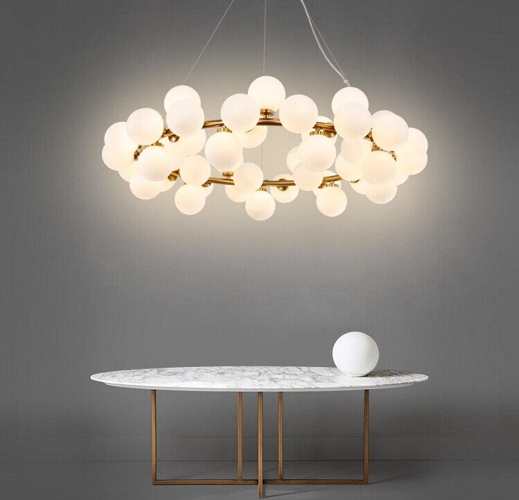 Magic Bean Modern LED Pendant Chandelier Lights For Living Room Dining Room G4 Gold /Black White Glass Chandelier Lamp Fixtures gilbert e big magic creative living beyond fear