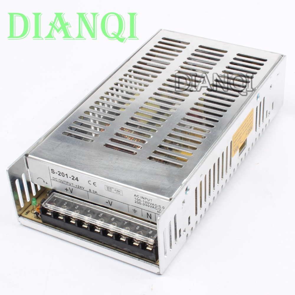 DIANQI S-201-24 led power supply switch 201W 24v8.3A ac dc converter 24v variable dc voltage regulator adjustable output voltage mini adjustable dc power supply laboratory power supply digital variable voltage regulator 30v10a four display ps3010dm